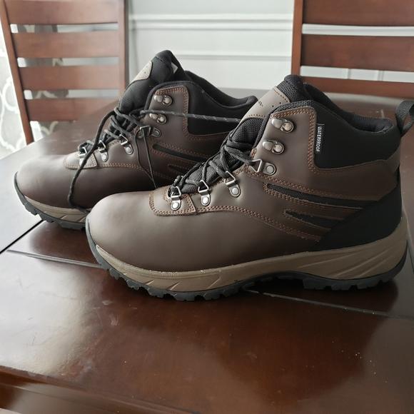 Eddie Bauer Men/'s Everett Hiking Boots Shoes Waterproof Leather Brown Sz 8.5 New